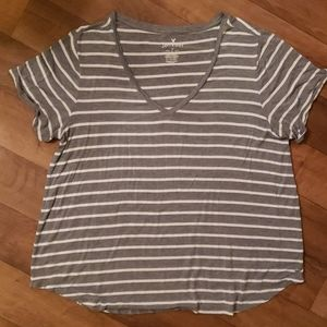 American Eagle Striped Soft & Sexy Tee Size XL